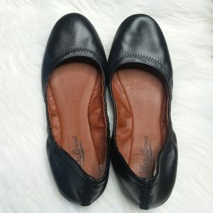 Lucky Brand Erin Ballet Flats Black Leather 7 FLAW